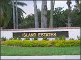 Island Estates Sign